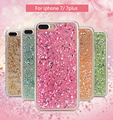 Glitter Gold Foil Case for iPhone 6 6S 7 Plus Ultra Thin Soft TPU Gold Bling Paillette Sequin Skin Back Cover For iphone 6S