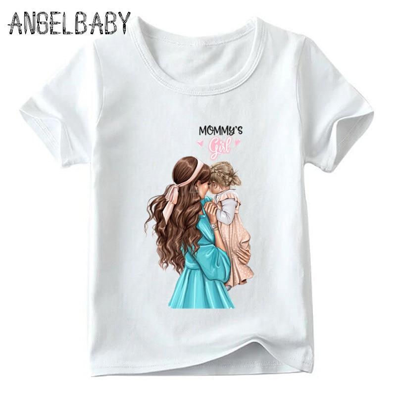 Одинаковые комплекты для семьи футболка для мальчиков и девочек с принтом супермамы и дочки одежда для подарка на День Матери Забавные футболки для детей и женщин - Цвет: 5281F