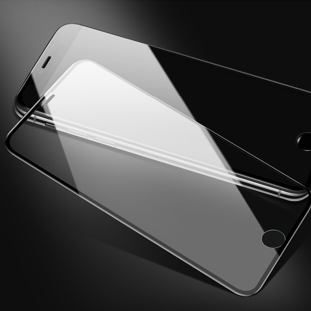 7D Full Cover protective Glass For iPhone 6 7 8 6S Plus X glass flim iphone 7 8 x 6 screen protector tempered glass on iphone 7
