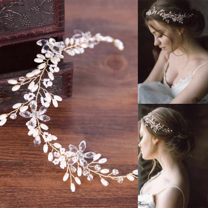 JAVRICK Bride Hair Band Faux Pearl Wedding Jewelry Headband Handmade Bridal Accessories NEW