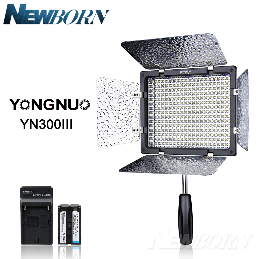 Yongnuo YN300 III YN 300 III 3200k 5500K CRI95 Camera Photo LED Video Light with AC