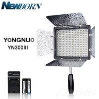 Yongnuo YN300 III YN 300 III 3200k 5500K CRI95 Camera Photo LED Video Light with AC Power Adapter + Battery Kit