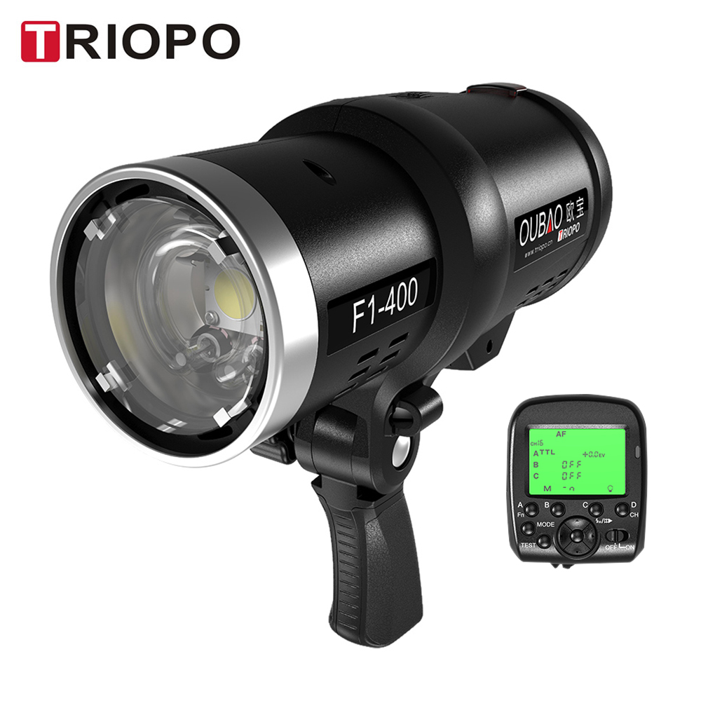TRIOPO High Speed Sync Outdoor Flash Strobe Light with 2 4G Wireless Trigger and Rechargeable Li