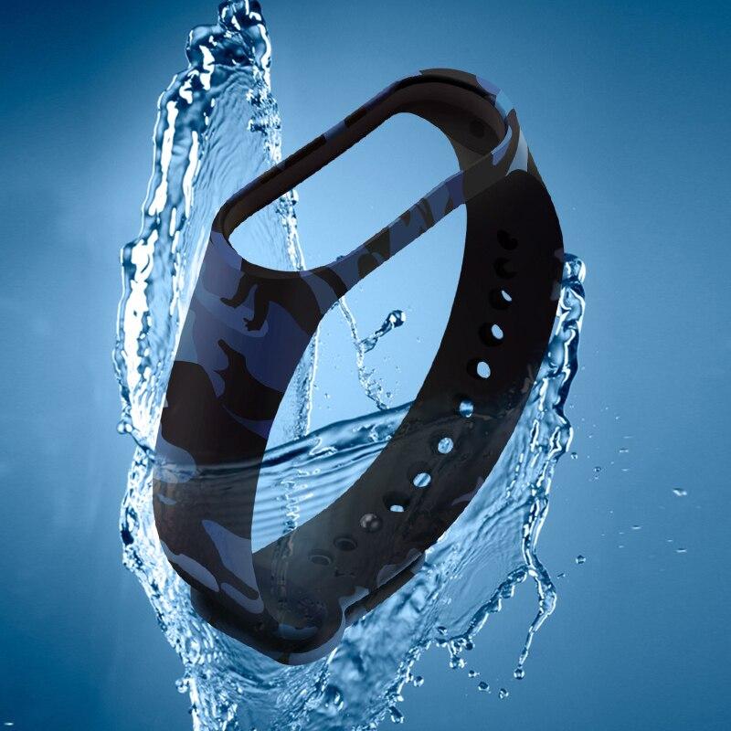 For Xiaomi MI Band 4 Smart Bracelet Replace Silicone Wrist Band Smart Bracelet Accessories Camouflage Bracelet Band