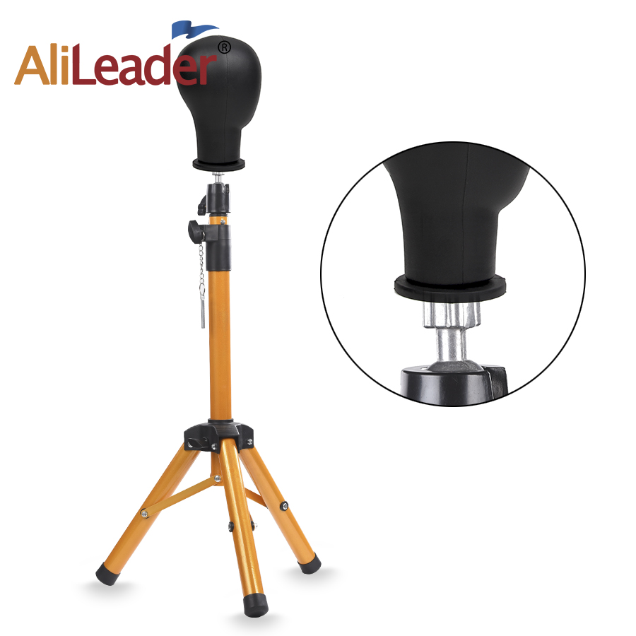 AliLeader Golden Color Tripod Stand For Mannequin Tripod Wig Stand Mannequin Head Tripod Hat Holder Wig Tripod Stand 115cm 1PC