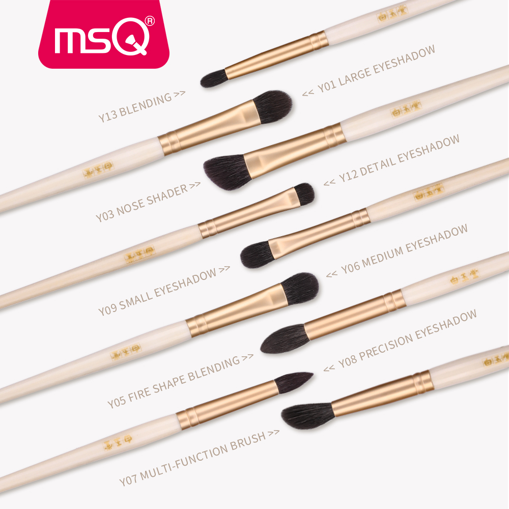 MSQ Pro Single Eyes Makeup Brushes Set Eyeshadow Concealer Blending Nose Multi Function Make Up Brush Tool Kits Goat Hose Hair in Eye Shadow Applicator from Beauty Health