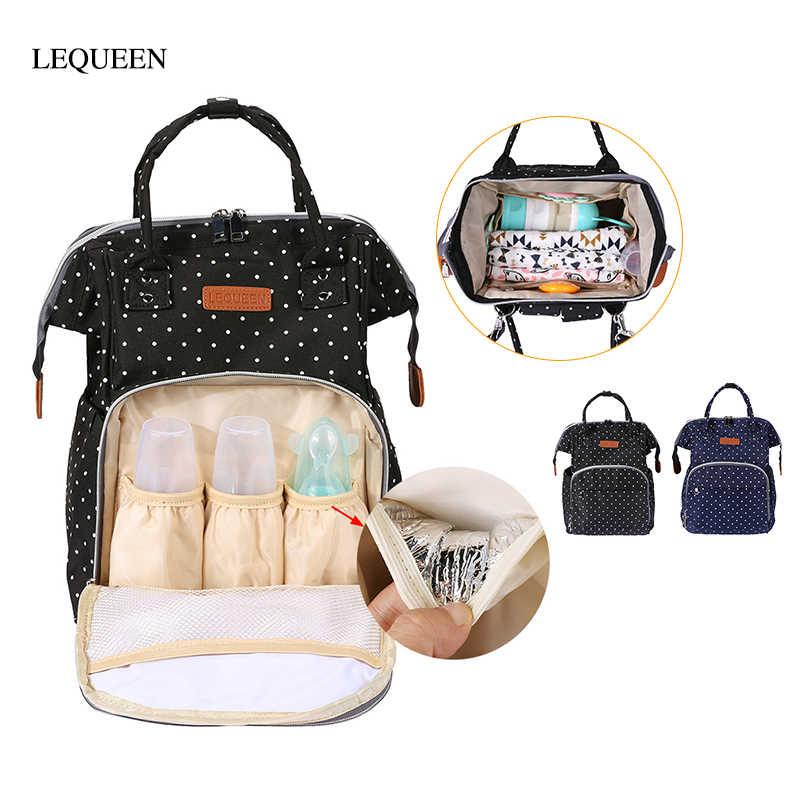 2018 Multifunction Mummy Diaper Nappy Backpack Newborn Baby Changing Bag JK5P