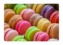 Floor Mat Cute Fruit Colorful Macarons Dessert Print Non-slip Rugs Carpets For Indoor Outdoor Living Room
