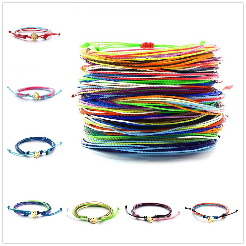 MINHIN Fashion Rainbow Colors Rope Bracelets For Woman Men Cotton Handmade Friendship Bracelet Wedding Charms Bracelet Femme