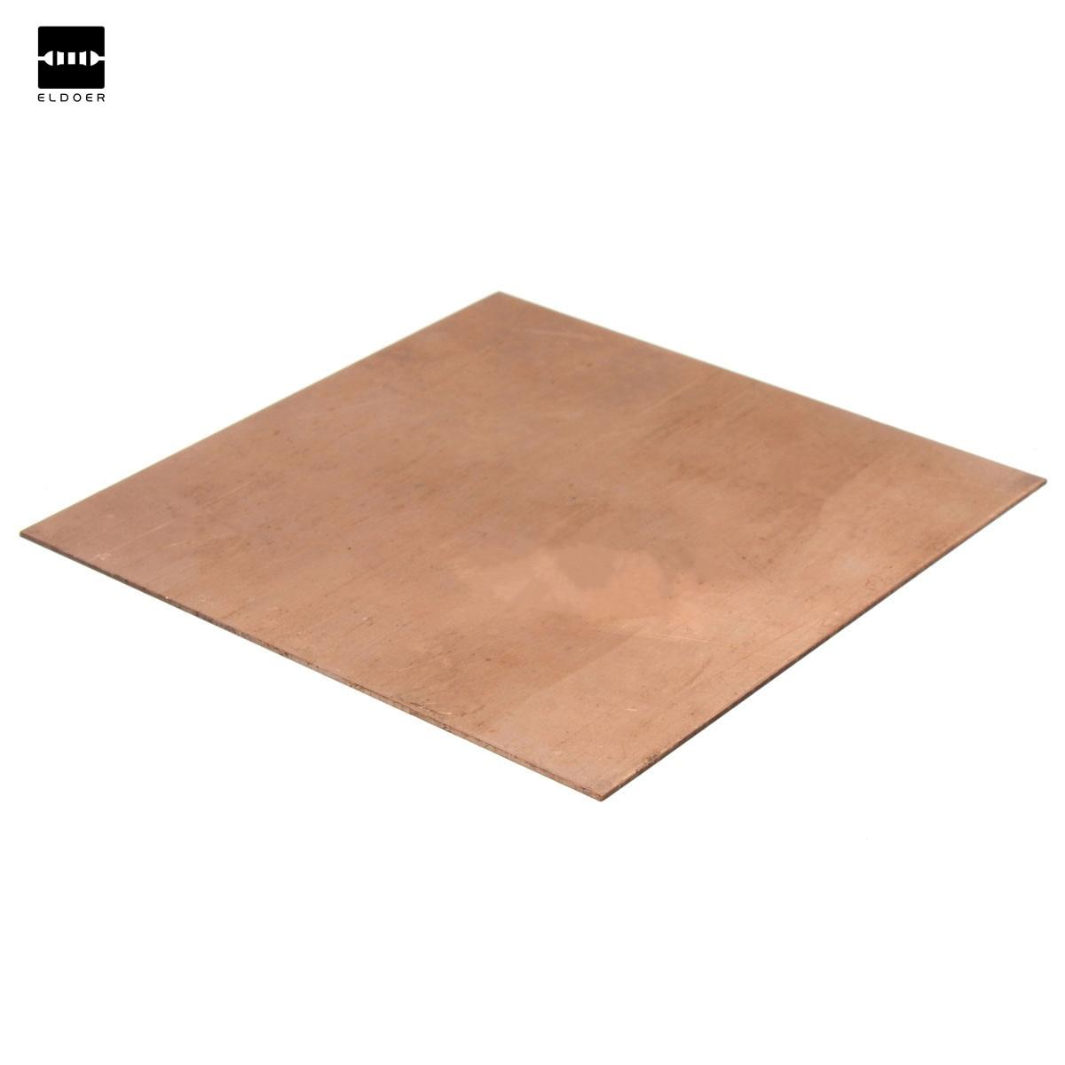 2016 Hot Sale 99.9% Pure Copper Cu Metal Guillotine Cut Sheet Plate 1mm*100mm*100mm Safe Using Wholesale Price