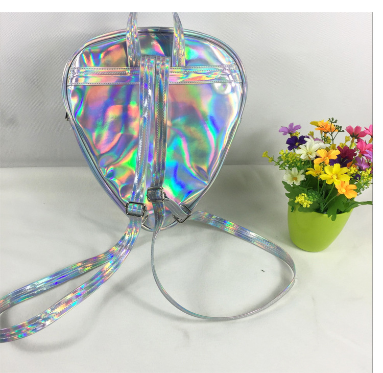 Patchwork Alien Eye Triangle Head Face Shape Cute Transparent Laser Hologram  Backpack Fashion Kpop Street Mini Shoulder Bags-in Backpacks from Luggage  ...
