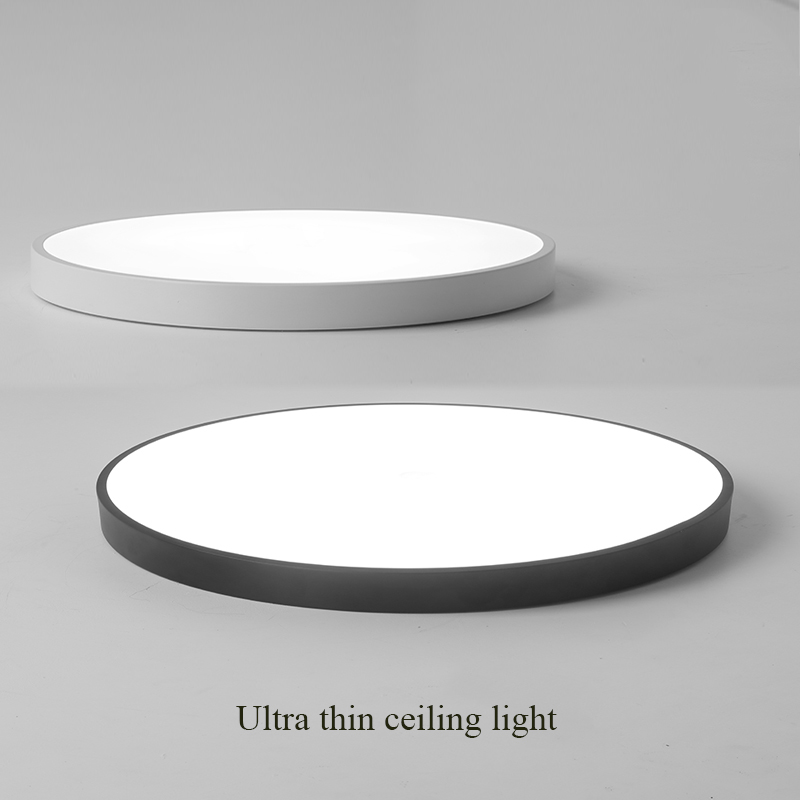 Ultra Thin Ceiling Lights Round Led Lighting Fixtures Led Ceiling Lamp Modern Simple Lamp Iron for Home Indoor DIA 23/30/40/50CM black and white round lamp modern led light remote control dimmer ceiling lighting home fixtures