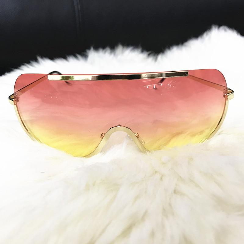 Rimless Gold Clear Sunglasses Men Women Brand Designer Aviator Clear Sunglasses 20