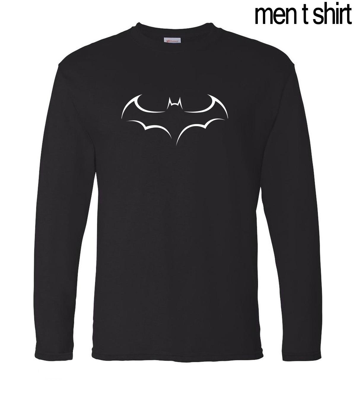 Superman Series Batman Fitness T Shirt Men 2019 Autumn 100% Cotton Long Sleeve Tshirt Hip Hop Men T-Shirt Gyms-Clothing Jersey