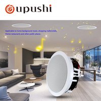 8 Inch Round Ceiling Mounted Speaker Professional Sound System Fixed Resistance Impedance Coxial Speakers