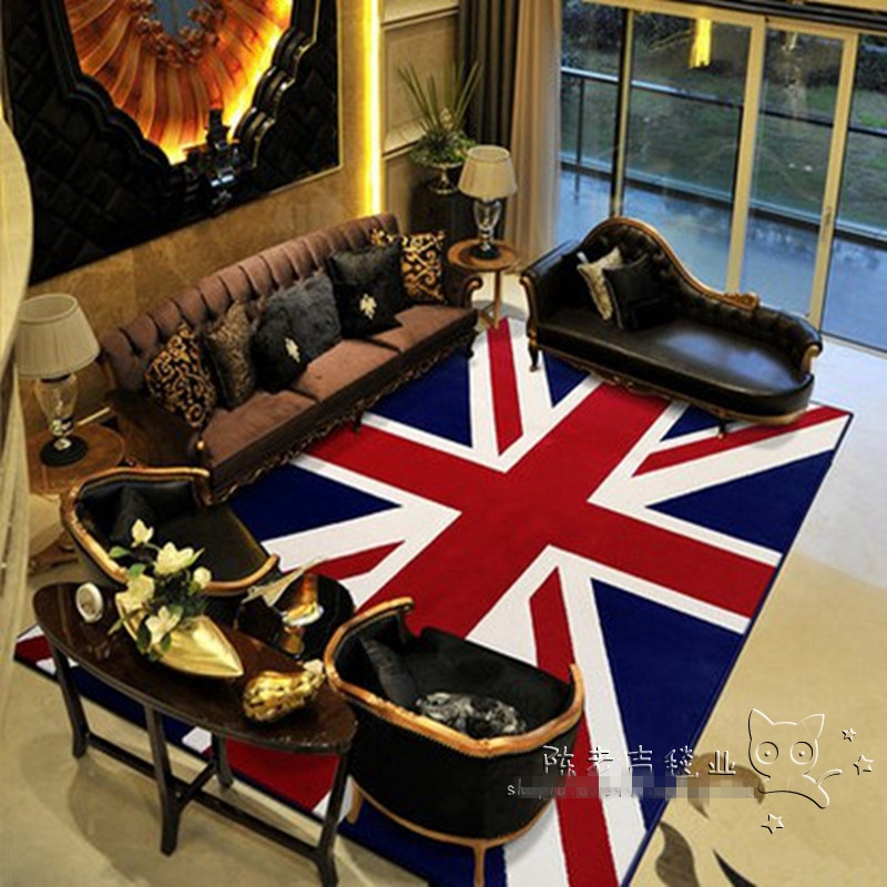 Fashion Union Jack British Flag Acrylic Room Carpets And
