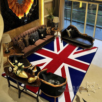 Fashion Union Jack British Flag Acrylic Room Carpets And Rugs Bape Rug Bape Carpet Bath Mat Huarache