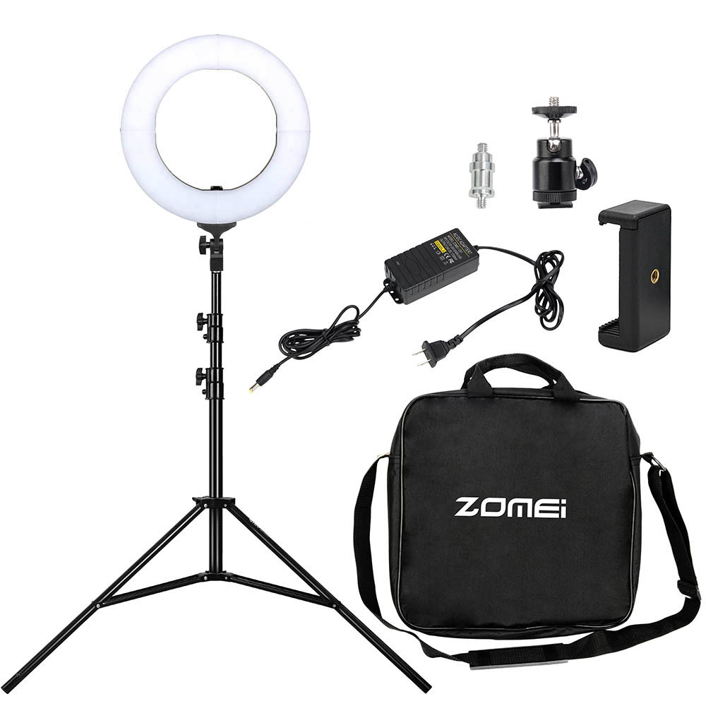 Zomei 14 inch LED Ring Light Dimmable Photography Studio Light with Stand for Phone DSLR Camera Makeup Video Selfie Shooting lioele les lioele 4 5ml