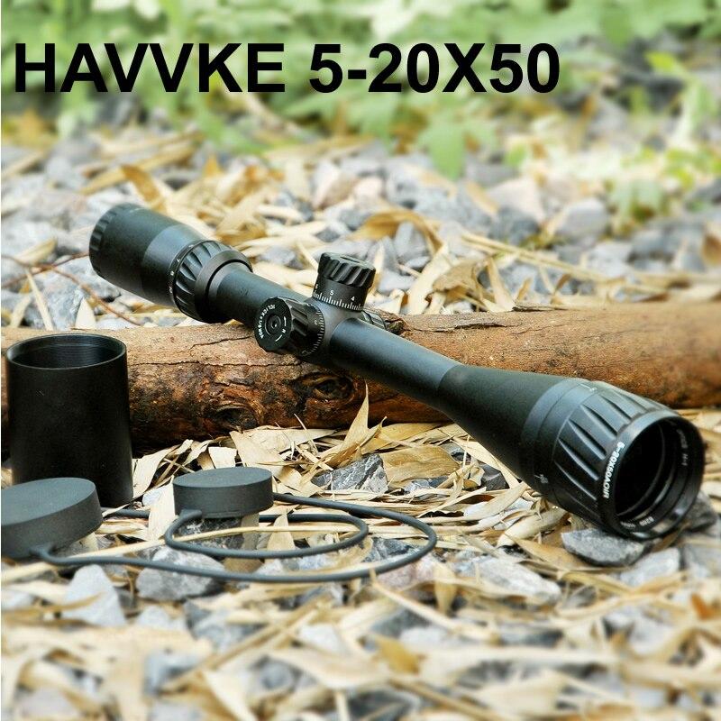 купить HAVVKE 5-20X50 AOIR Tactical Optic Sight RGB Illuminated Hawke Mid Dot Reticle Scope Full Size Tactical Scope For Airsoft Rifle по цене 5524.8 рублей