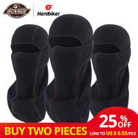 HEROBIKER Black Motorcycle Face Mask Autumn Winter Thermal Fleece Balaclava Motorcycle Mask Moto Windproof Cycling Skiing Mask