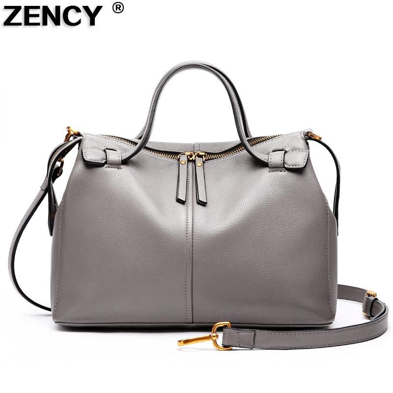 2018 Fashion Brand 100% Nature Genuine Real Leather Women's Handbag Fashion Soft Top Layer Cowhide Girl Ladies Tote Female Bag fashion 100