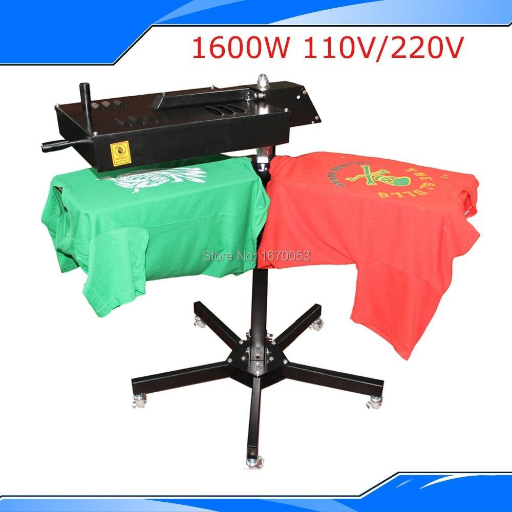 Shirt Screen Printing Quick Drying Machine Flash Dryer With Two Drying Platform