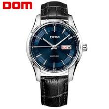 DOM hommes montres top marque de luxe étanche quartz en cuir D'affaires montre reloj hombre marca de lujo M-517