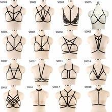 Связывание сексуальный нагрудный ремень для женщин черный эротический очаровательный искушение сковывает тело Связывание секс-игрушка 16 стиль