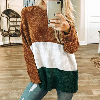 Womens Casual Striped Long Sleeve Jumper O Neck Sweaters Blouse Tops Shirts Tee Tops Ladies Clothes female T-shirt top women Блузка