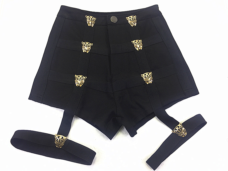 Noir Rose Shorts Sexy Dance Party Club Pantalon Court Kpop Étoiles Kim Hyun Un Lisa Même Style Court Feminino Femmes Taille Haute Shorts