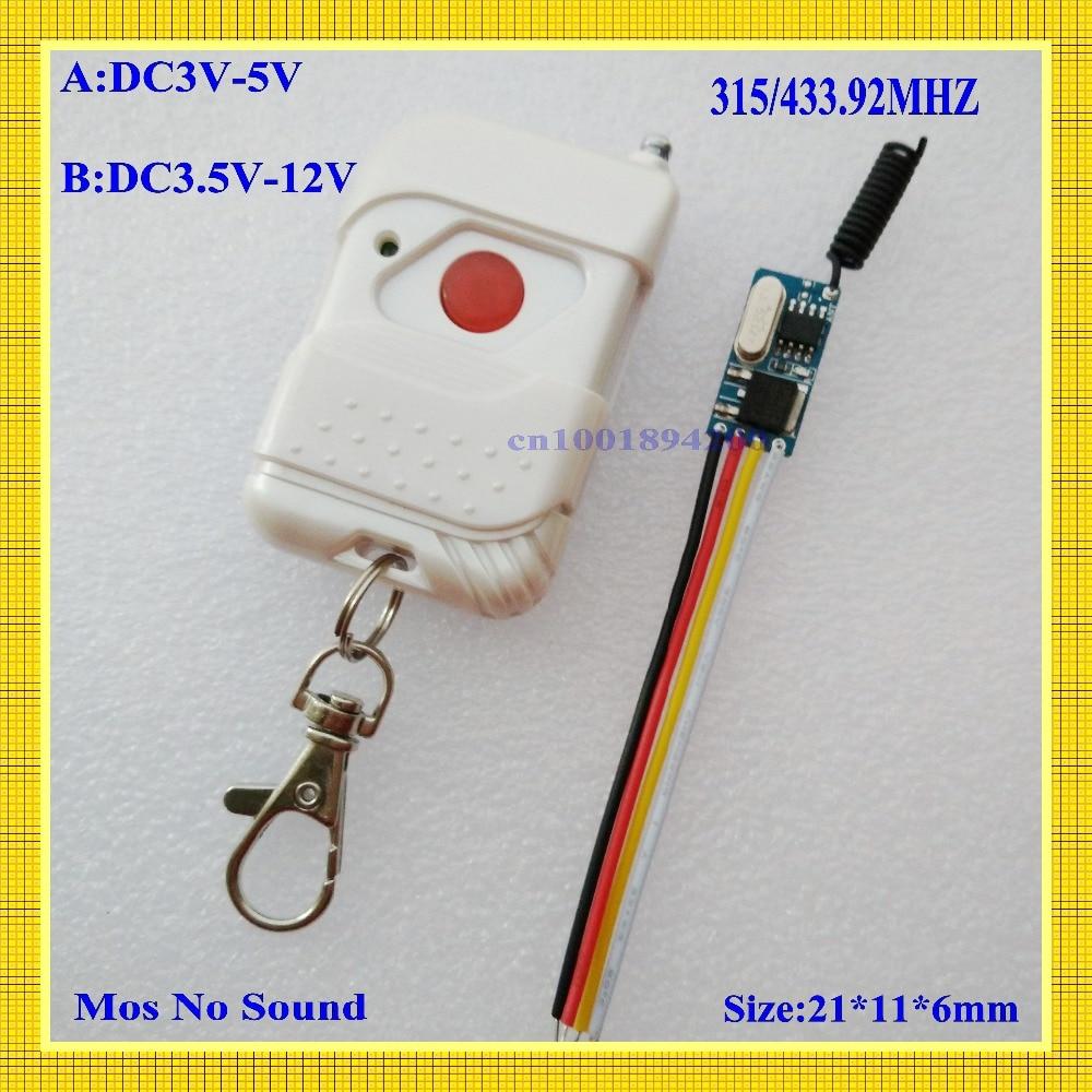Микро мини-размер затрудняетесь в выборе правильного размера? Беспроводной дистанционного Управление переключатель DC3V 3,7 V 4 V 4,5 V 5 V бесконтактных Управление Системы никакого шума обучения мгновенный T