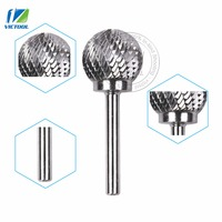 1pc D252106 Tungsten Carbide D Ball Head 25 21mm Rotary Burrs File Cutter Grinding And Abrasive