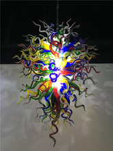 Colorful Murano Chandelier LED Light Tiffany European Hand Blown Glass for Home Hotel Restaurant Art Decoration