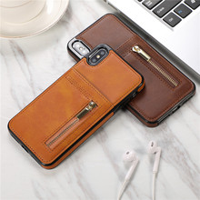 Fashion Zipper Wallet PU Leather Case For iPhone XS Max Case For iPhone XR X 10 7 6 6S 8 Plus ID Card Slot Coin Back Cover Coque стоимость