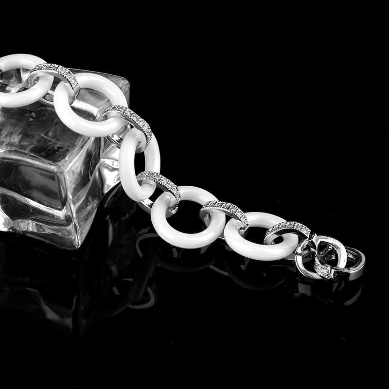 2017 Νέο γυναικείο βραχιόλι Λευκό Bling - Κοσμήματα μόδας - Φωτογραφία 6