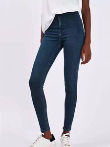 Jeans Pencil-Pants Skinny Female High-Elastic Plus-Size Denim Woman for Stretch Washed