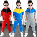 2016 new arrive baby boys clothes set hoodied  clothes suit  3 colors  boys sports suit  Retail and free shipping