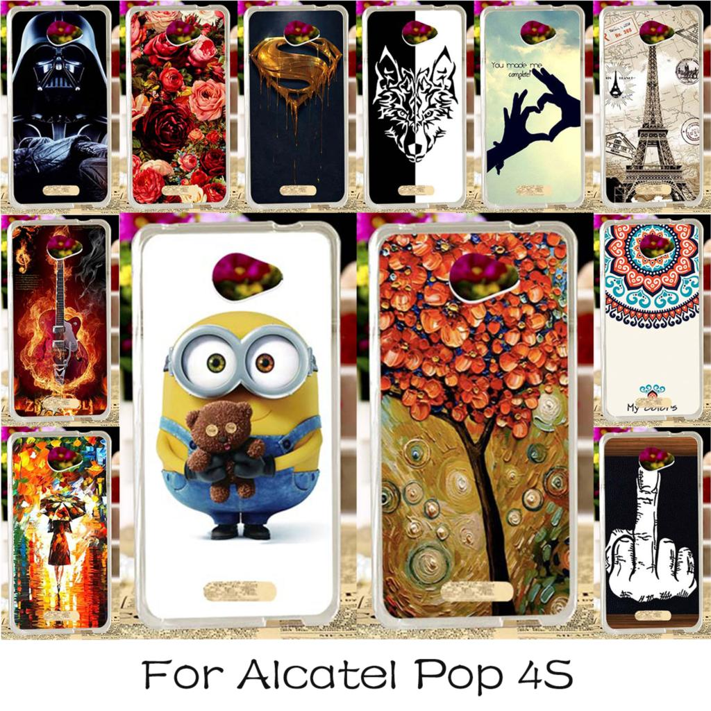TAOYUNXI Soft TPU Silicon Phone Cover Case For Alcatel OneTouch POP 4S OT-5095K 5.5 Inch 5095 OT-5095Y 5095K 5095B Cover Housing