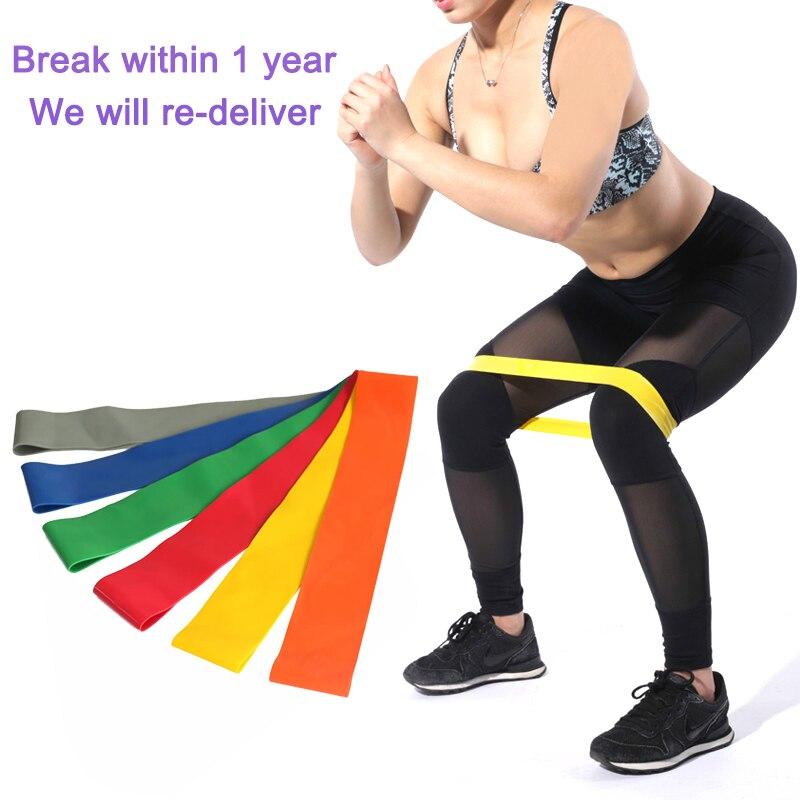 Resistance Bands Tube Workout Exercise Elastic Band Fitness Equipment Yoga US