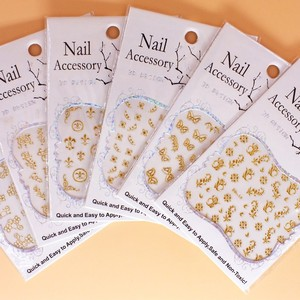 Image 2 - 100pcs Promotion 2017 DIY Fashion Metal 3D Nail decals Hot Sale Gold and Silver Chrome Decoration Nail Art Sticker Free Shipping