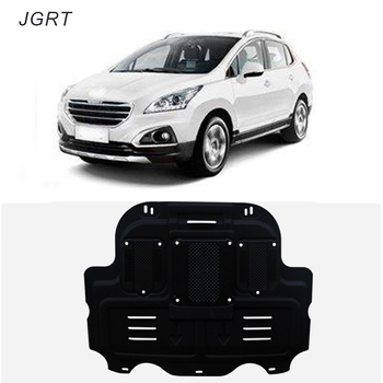 Car styling For Peugeot 3008 plastic steel engine guard For 3008 Engine skid plate fender 1pc