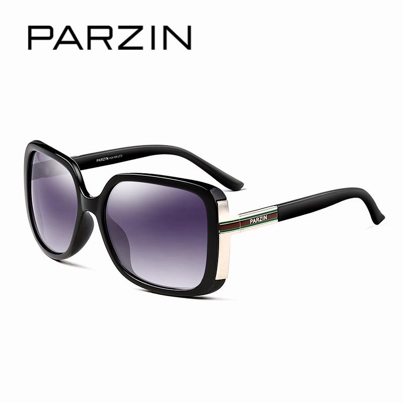 PARZIN Vintage Oversized Luxury Sunglasses Women Polarzied Brand Designer Fashion Eyewear UV400 Sun Glasses