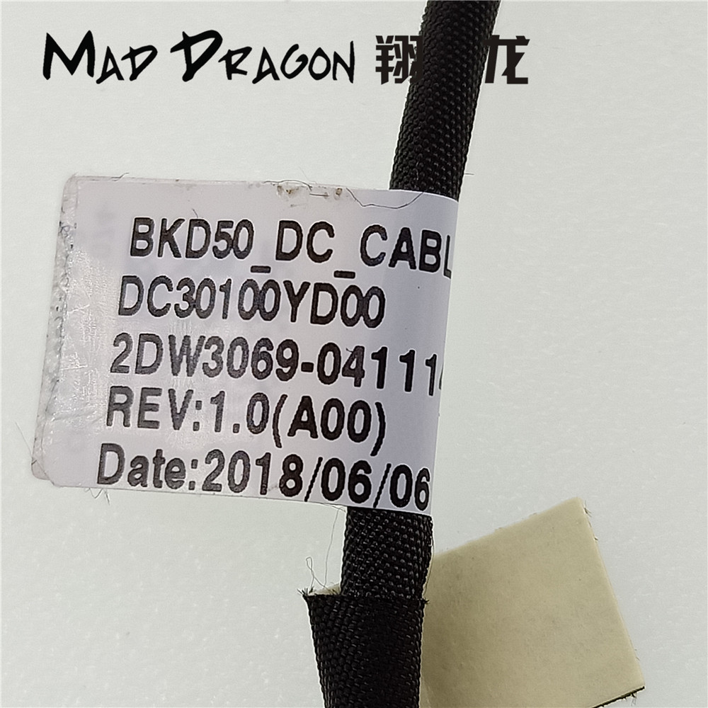 Smart Mad Dragon Brand Laptop New Dc-in Dc Power Jack Cable For Dell Vostro 14 5468 V5468 15 5568 V5568 Bkd50 0m3fm1 M3fm1 Dc30100yd00 Back To Search Resultscomputer & Office