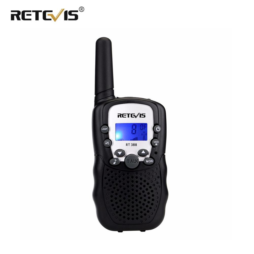 1 Pc  Retevis RT388 Mini Walkie Talkie Kids Radio 0.5W 8/22CH VOX Flashlight Handy Hf Transceiver Gift Children Toy Radio J7027