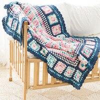 Крючком Одеяло s Классический бабушки площадь плед для кровать диван крышка Cobertor DIY Craft трикотажные хлопковые нити ручной работы Одеяло