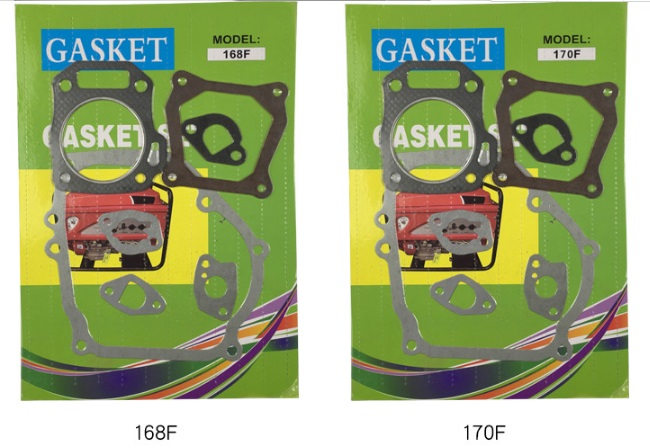 Free Shipping gasoline engine 168F 170F 173F 178F 188F 190F A full set of Gasket suit for kipor kama and chinese brand