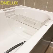 Высокой прозрачности, акриловый Мобильный телефон для ванной комнаты/ipad/винный Стеклянный Стеллаж для хранения, Lucite лоток для ванны лоток для ванной комнаты-3 варианта размера