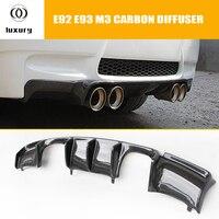 E92 M3 Carbon Fiber Rear Bumper Lip Diffuser Spoiler for BMW E92 M3 Coupe 2006 2012 (Can't fit E90 M3)