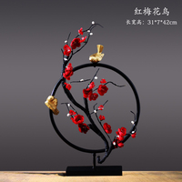 Living room decoration ornaments Prunus mume Metal wooden decoration home Plum feng shui decorating Home decoration accessories