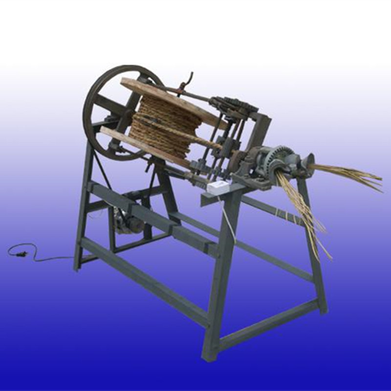 Semi automatic rice stalk straw rope making machine straw braiding machine price - 2